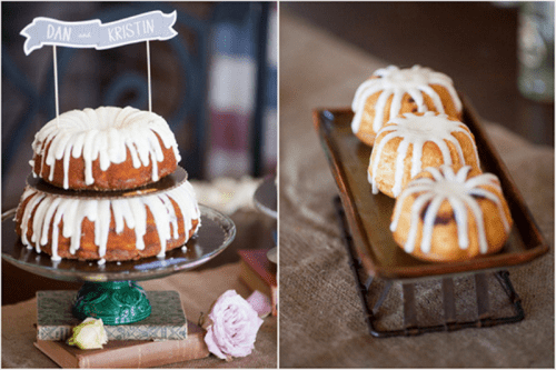 bundt wedding cakes are very cozy, homey and cool, you can easily DIY some for your wedding