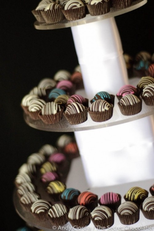 glazed chocolate is another cool idea to substitute a wedding cake - not everyone likes cakes but everyone likes chocolate