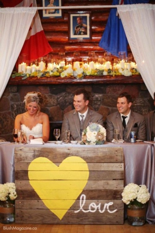 a pallet wedding sign with a heart and letters - just make any sign that you like with quotes and letters that you like