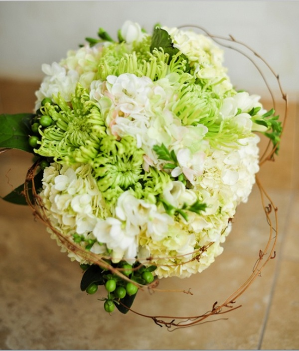 Crisp And Bright Lime Green And White Wedding Ideas