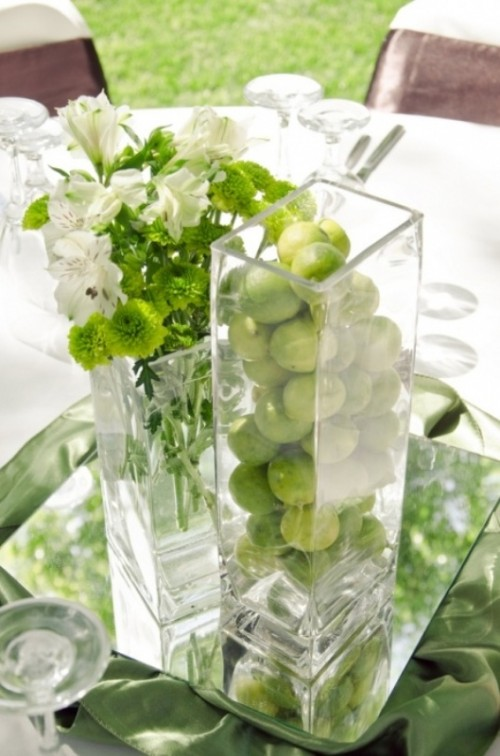 26 Crisp And Bright Lime Green And White Spring Wedding
