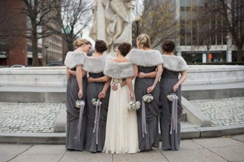 Picture Of enchanting winter wedding ideas in grey shades  1