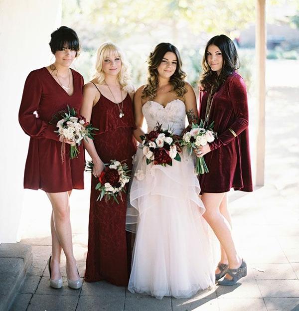 Falls Must Have Jewel Toned Bridesmaids Dresses