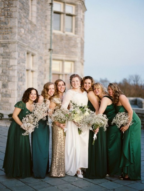 Falls Must Have Jewel Toned Bridesmaids Dresses