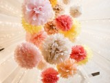 25 Fanciful Ideas Of Using Pom Poms And Fans In Your Wedding Decor