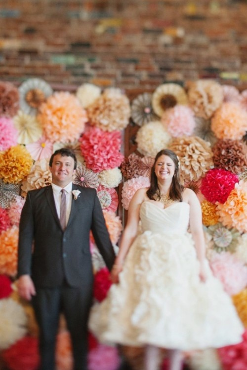 Fanciful Ideas Of Using Pom Poms And Fans In Your Wedding Decor