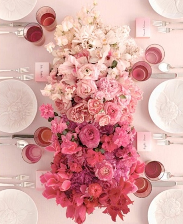 Picture Of gorgeous ways to use ombre wedding flowers  16