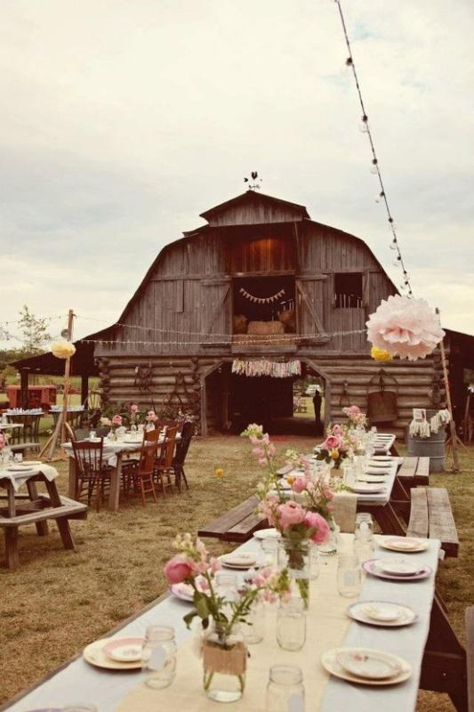 Picture of inspiring barn wedding exterior decor ideas junglespirit Gallery