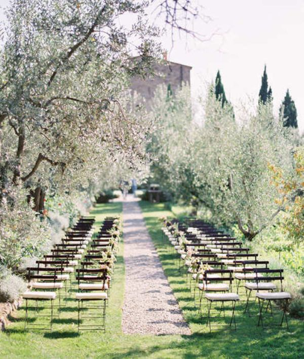 olive tree gardens are amazing for having a wedding ceremony, they are ethereal and you won't need any special decor