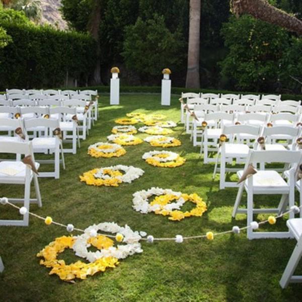 Romantic Wedding Ceremony Ideas: Picture Of Romantic Wedding Aisle Petals Decor Ideas
