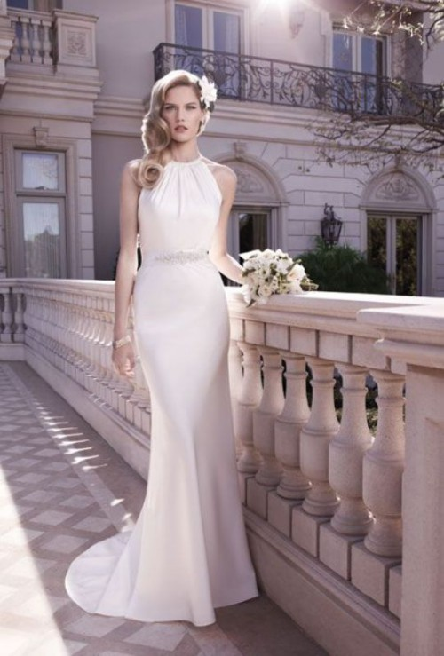 25 stunning halter neckline wedding dresses weddingomania 25 stunning halter neckline wedding dresses junglespirit Choice Image