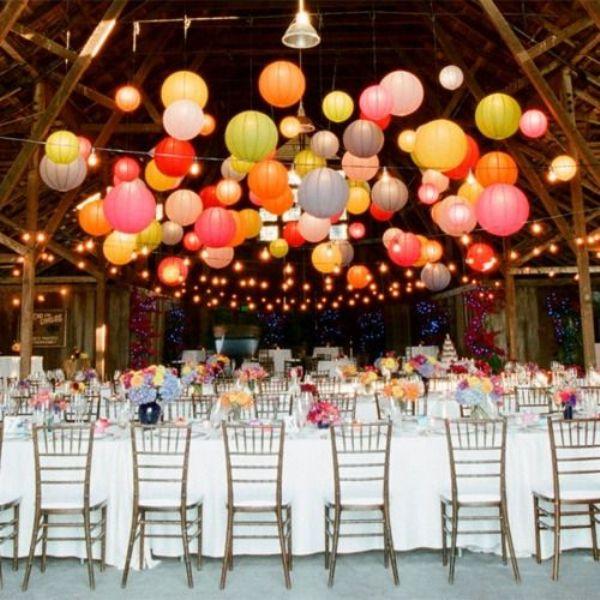 Picture Of stunning lantern wedding lightning and decor ideas  4