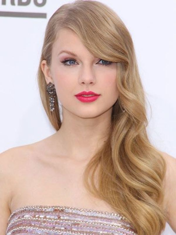 long elegant waves with wavy fringe look very chic and very romantic, even on super long hair