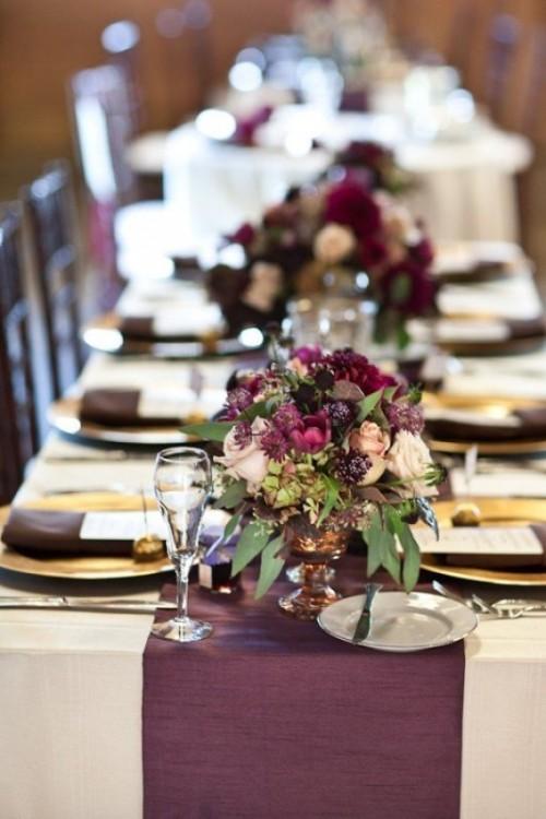Awesome Sumptuous Plum Wedding Inspirational Ideas