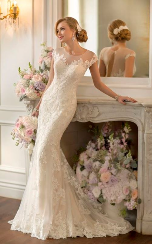 Picture Of swoon worthy sheath wedding dresses  10