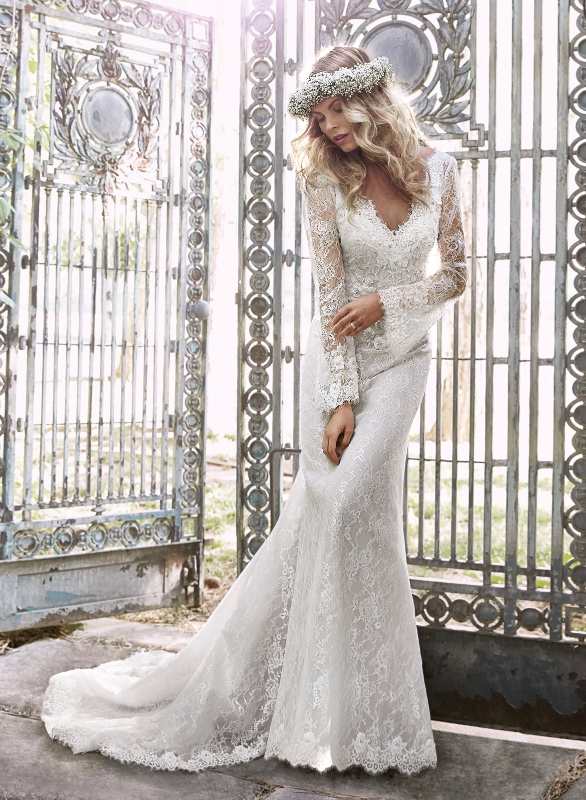 Picture Of swoon worthy sheath wedding dresses  19