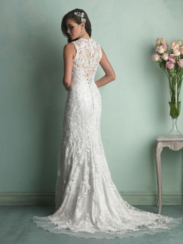 Picture Of swoon worthy sheath wedding dresses  5