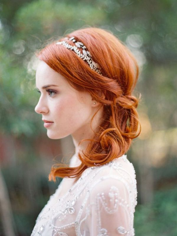 Picture Of trendy and impossibly beautiful bridal accessorized hairstyles  16