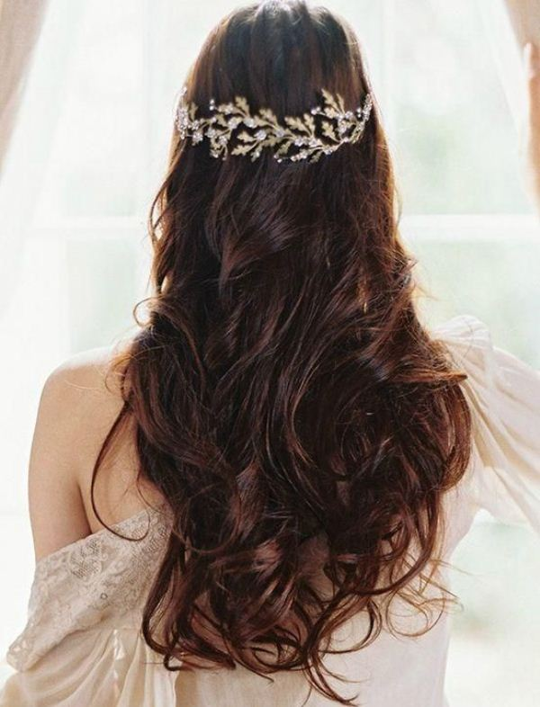 Picture Of trendy and impossibly beautiful bridal accessorized hairstyles  17