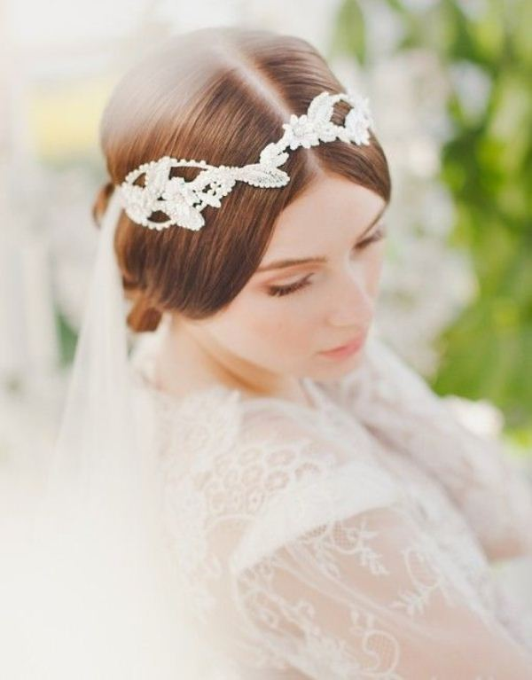 Picture Of trendy and impossibly beautiful bridal accessorized hairstyles  18