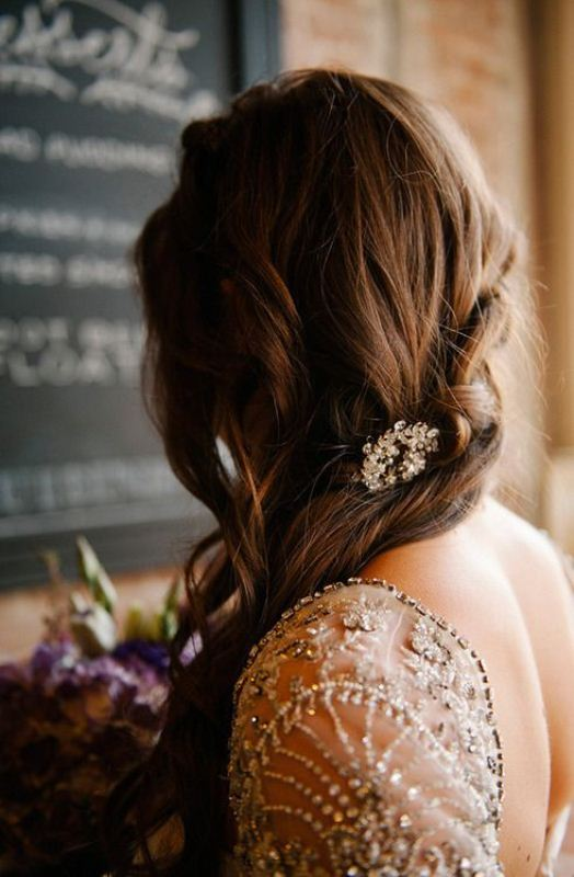 Picture Of trendy and impossibly beautiful bridal accessorized hairstyles  20