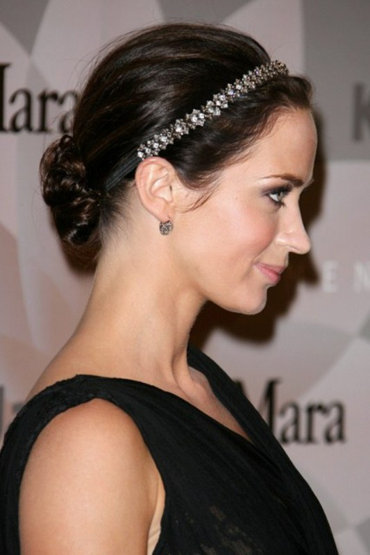 Picture Of trendy and impossibly beautiful bridal accessorized hairstyles  3