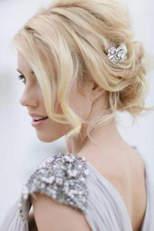 Picture Of trendy and impossibly beautiful bridal accessorized hairstyles  4