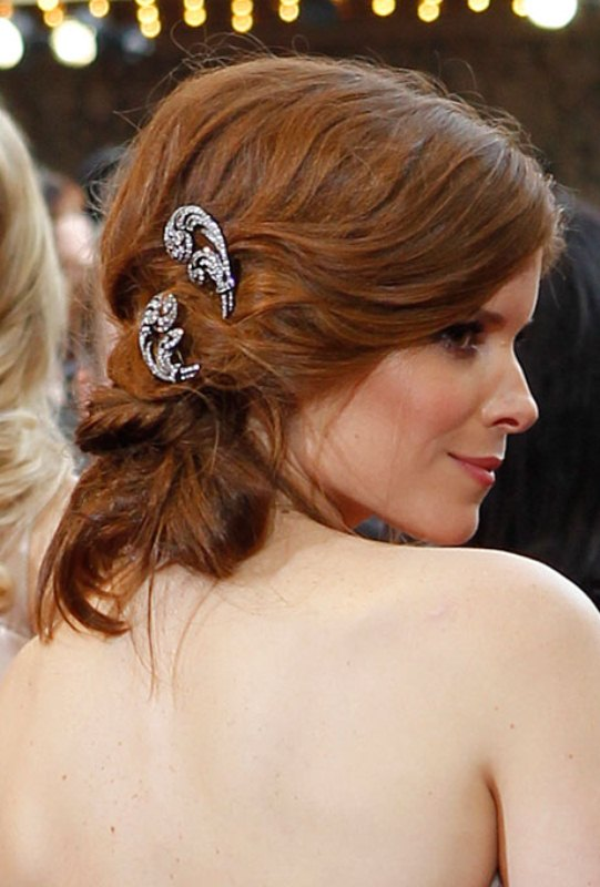 Picture Of trendy and impossibly beautiful bridal accessorized hairstyles  5