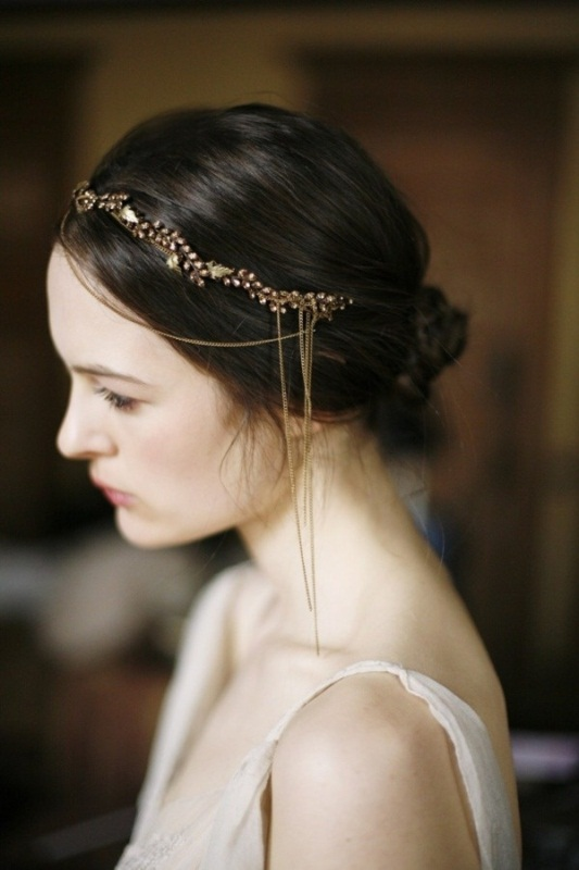 Picture Of trendy and impossibly beautiful bridal accessorized hairstyles  6