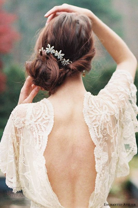 Picture Of trendy and impossibly beautiful bridal accessorized hairstyles  7