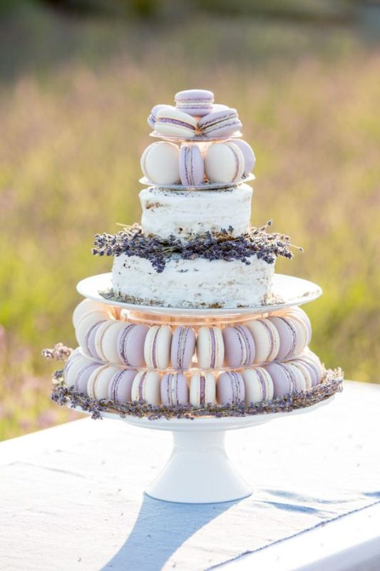 Picture Of trendy and unique macaron tower wedding cakes  13