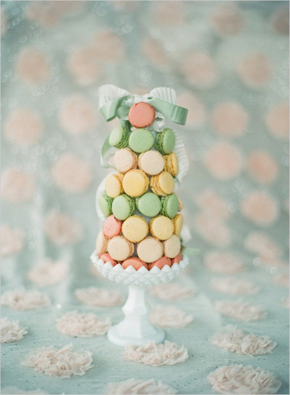 Picture Of trendy and unique macaron tower wedding cakes  17
