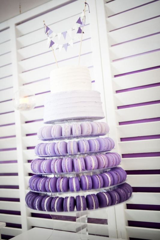 Picture Of trendy and unique macaron tower wedding cakes  18