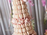 25-trendy-and-unique-macaron-tower-wedding-cakes-19