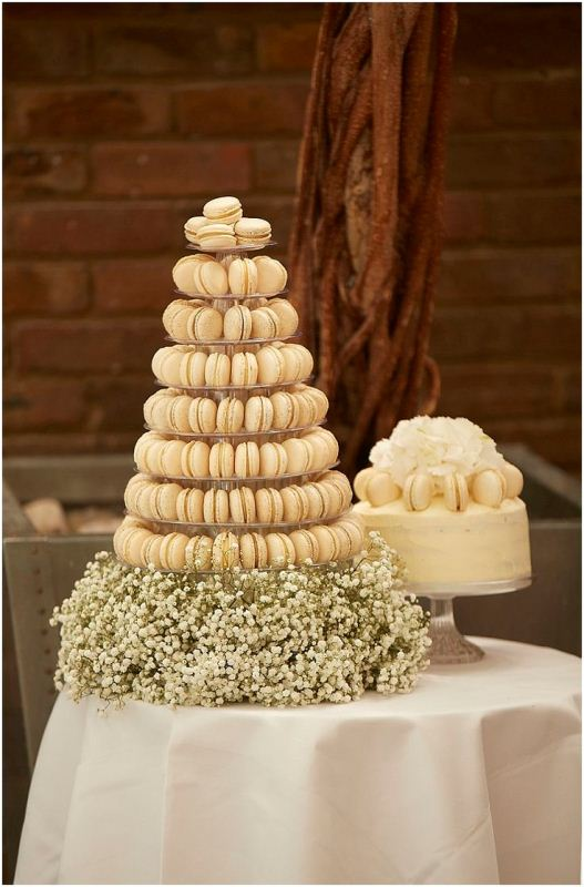 Picture Of trendy and unique macaron tower wedding cakes  20