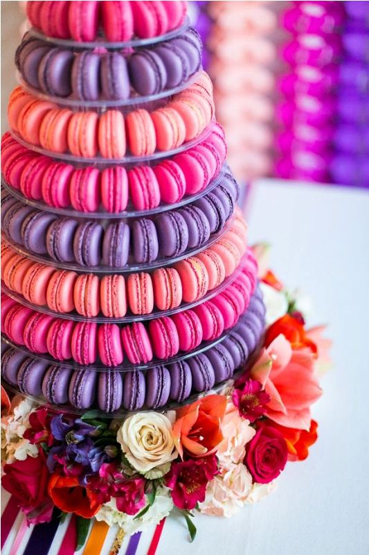 Picture Of trendy and unique macaron tower wedding cakes  22