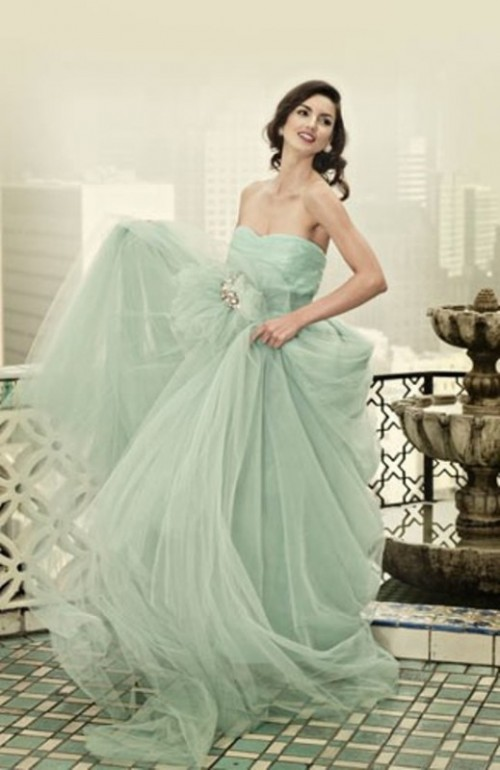 Trendy Pastel Wedding Gowns Ideas