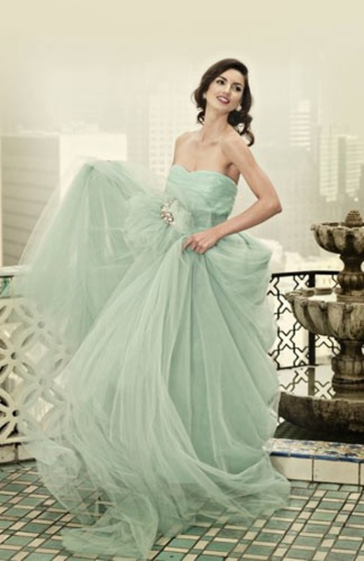 Picture Of Trendy Pastel Wedding Gowns Ideas