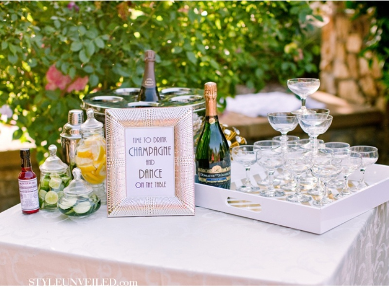 Superb Rehearsal Dinner Party Ideas Part - 5: Vintage Inspired Great Gatsby Themed Rehearsal Dinner Ideas