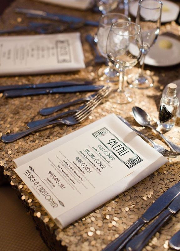 Picture Of Vintage Inspired Great Gatsby Themed Rehearsal Dinner