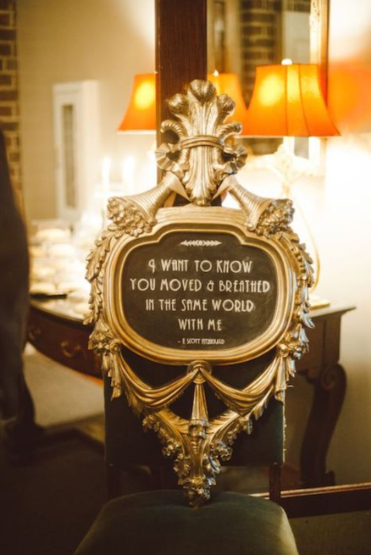 Picture Of vintage inspired great gatsby themed rehearsal dinner ideas  17