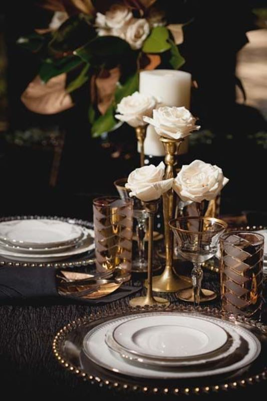 Picture Of vintage inspired great gatsby themed rehearsal dinner ideas  19