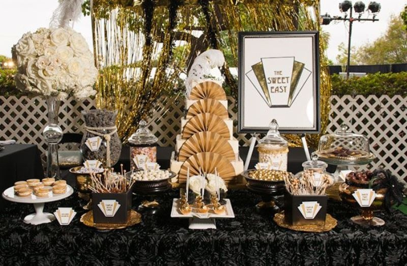 Picture Of vintage inspired great gatsby themed rehearsal dinner ideas  25