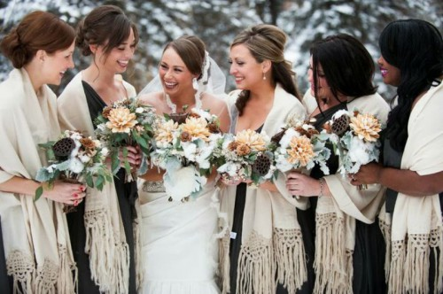 How To Maintain Your Wedding Hairstyle: 25 Ways To Keep Your Bridesmaids Warm