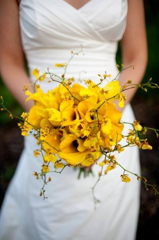 Yellow Flowers Bridal Bouquet