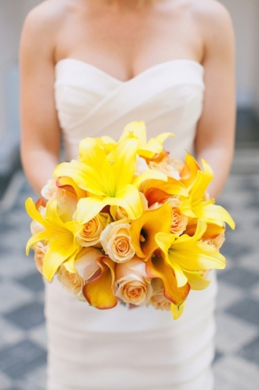 Picture Of Yellow Wedding Bouquets