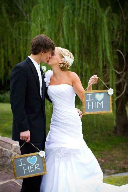 fun chalkboard photo booth signs write for the couple - chalk whatever you like on your signs