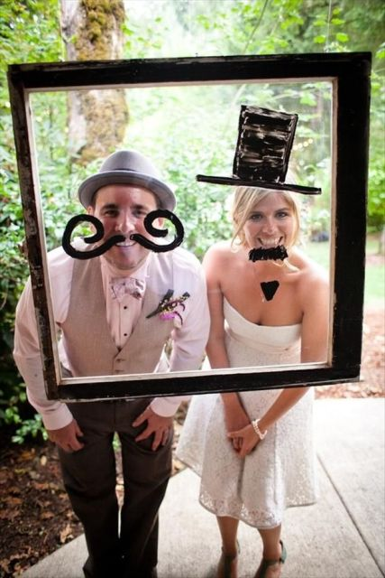 picture of funny photo booth props ideas for your wedding 7. Black Bedroom Furniture Sets. Home Design Ideas