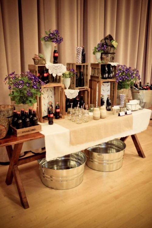 Creative Wedding Drinks Bar Design Ideas