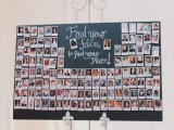 an escort chart made of Polaroids with guest faces – what can be easier and cuter to DIY for a wedding